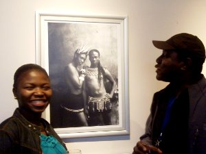 Nellie and Reg enjoy the Photo Exhibition by Zanele
