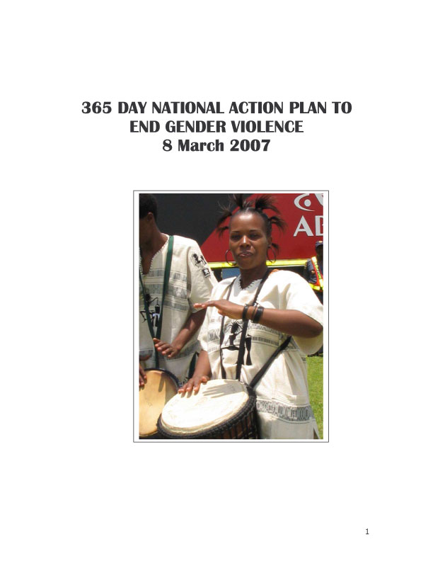 365 Days of National Plan to End Gender Violence