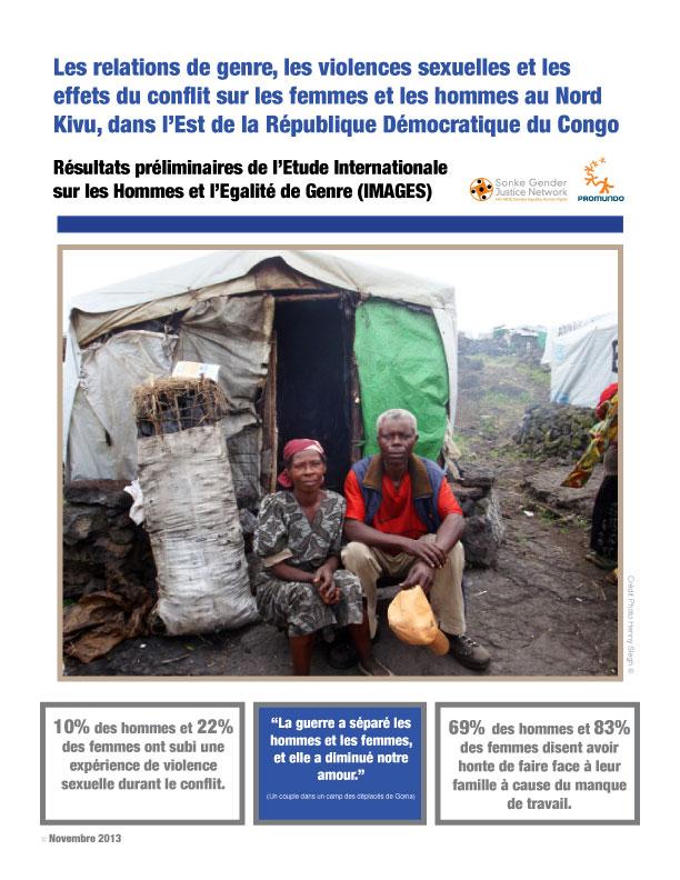 Les relations de genre, les violences sexuelles et les effets du conflit sur les femmes et les hommes au Nord Kivu, dans l\'Est de la République Démocratique du Congo