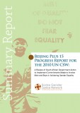 Beijing Plus 15 Progress Report for the 2010 UN CSW