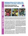 MenEngage Alliance Call for Action at the Commission on the Status of Women 2013