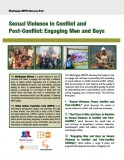 Sexual Violence in Conflict and Post Conflict: Engaging Men and Boys