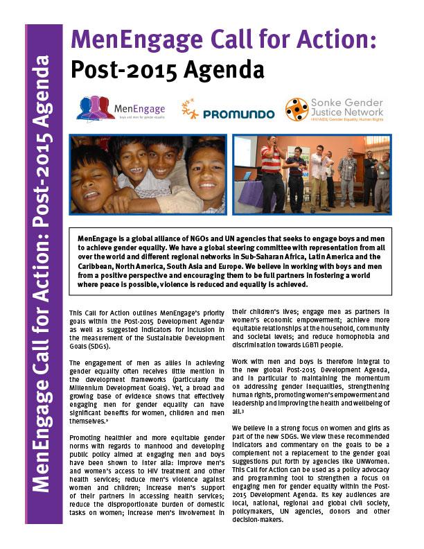 MenEngage Post-2015 Agenda