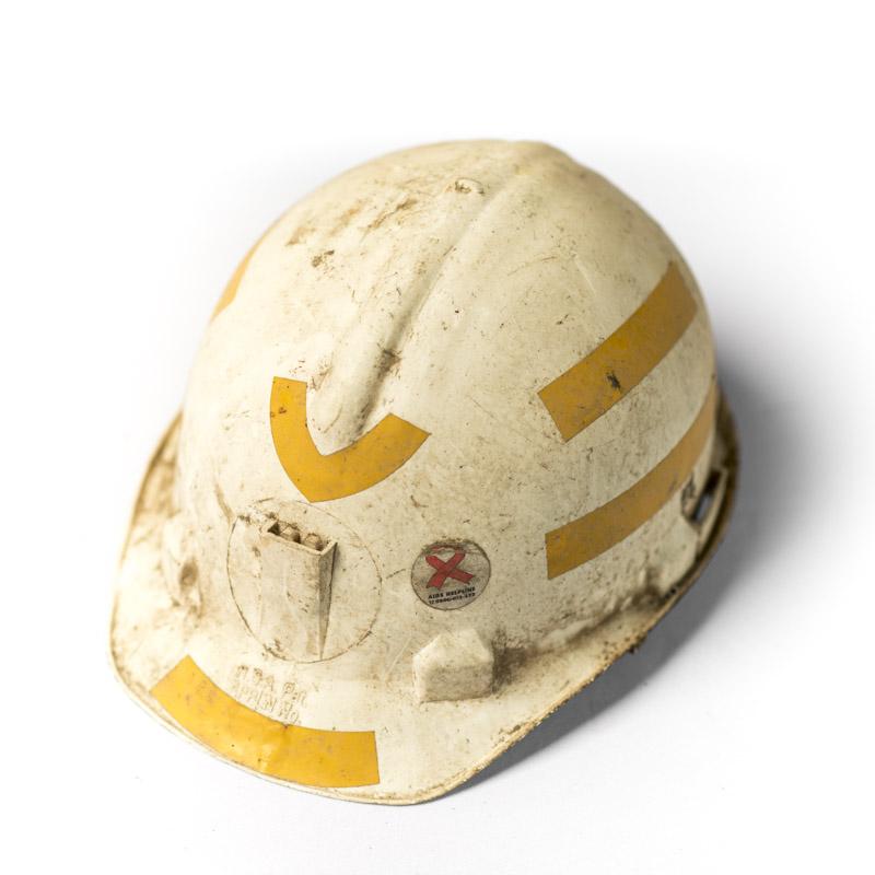 Miners Helmet belonging to Mr Balakazi