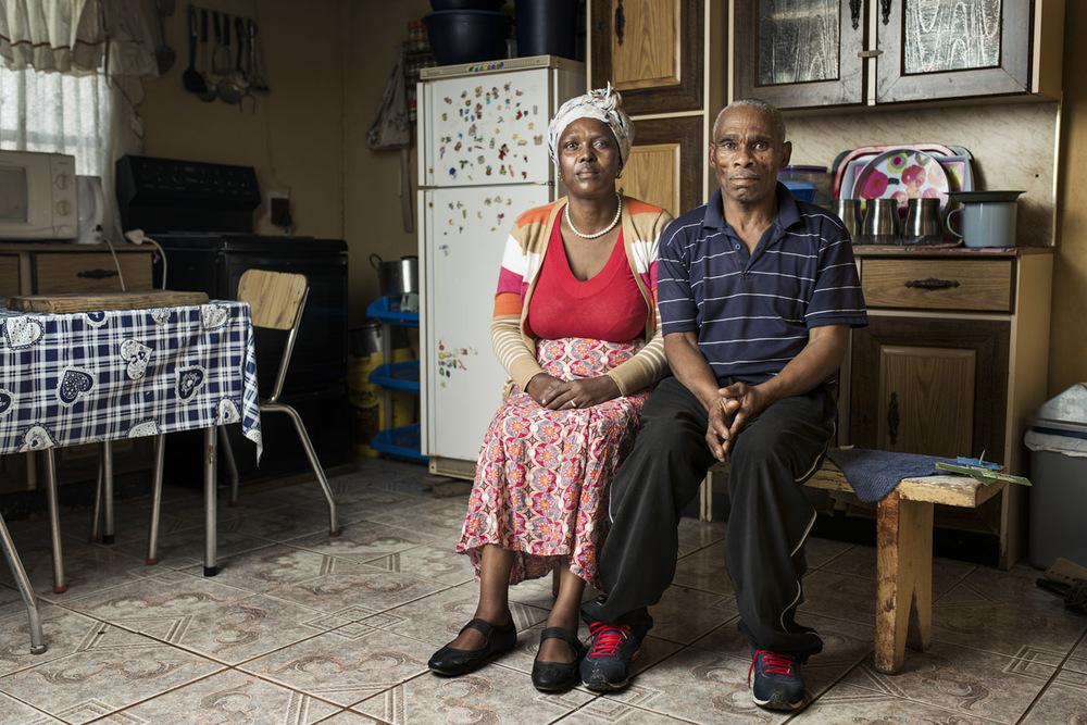 Siqhamo Hoyi at home with his wife Nomakhaya Synthia Hoyi