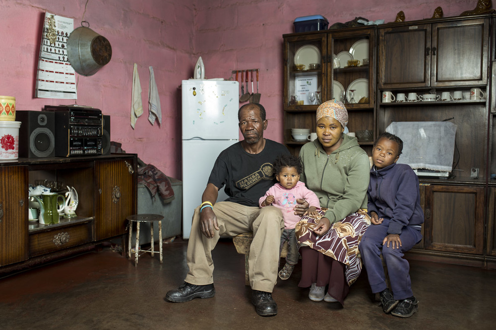 Zimoshile Bozo with his sister Zoleka and her children Avethanda & Amahle, in the home they share
