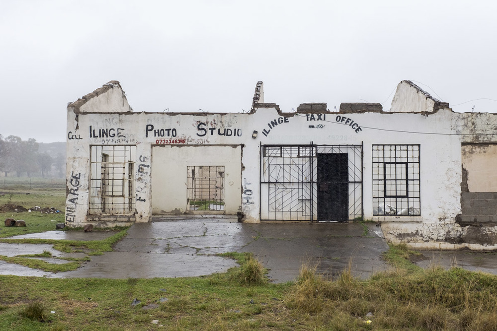 Linge township is mostly run down and many businesses have been abandoned due to lack of funds