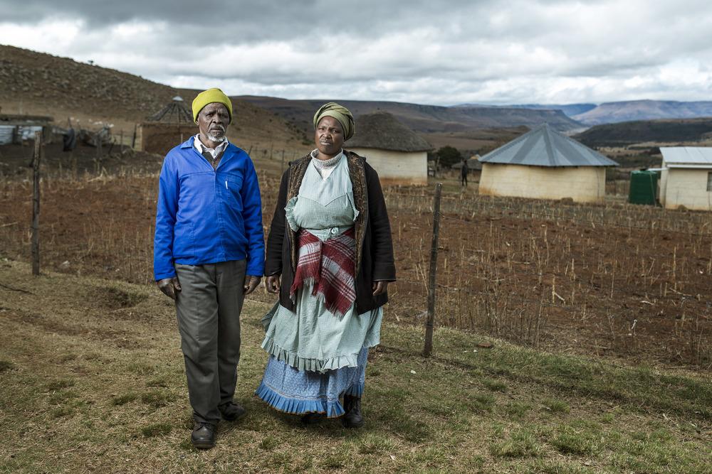 Buzile &Nowongile Nyakaza in their garden