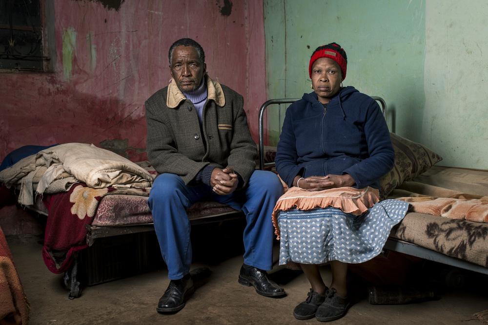 Zamukulungisa Dyanti & Betty Mkefa in their home