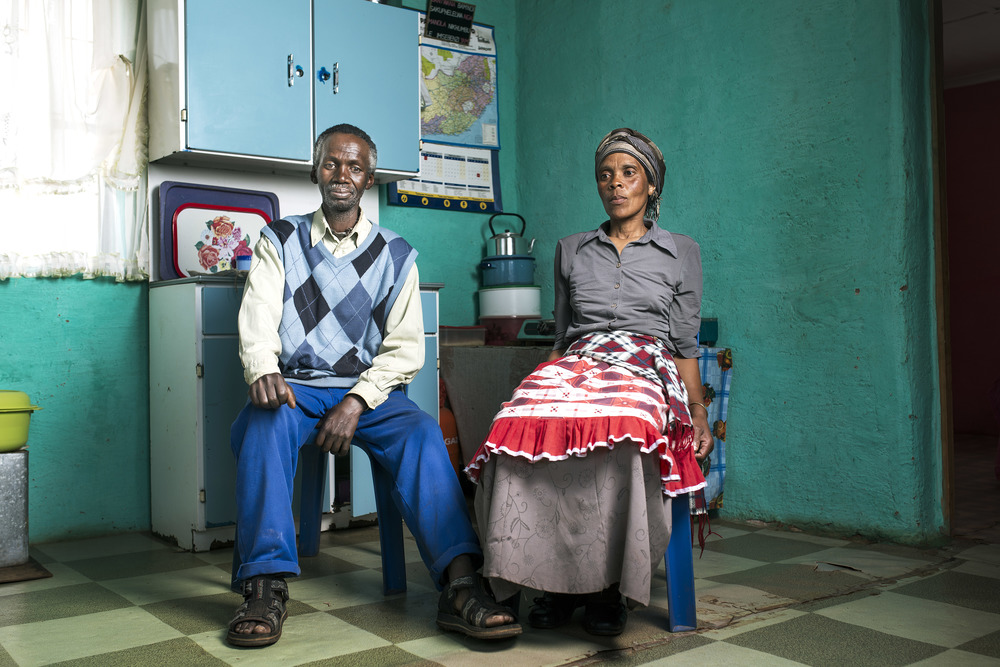 Kenneth and Nonuseko Nqose at home in Cofimvaba