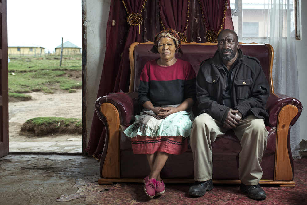 Zolisa Jejana and his wife at home in Cofimvaba