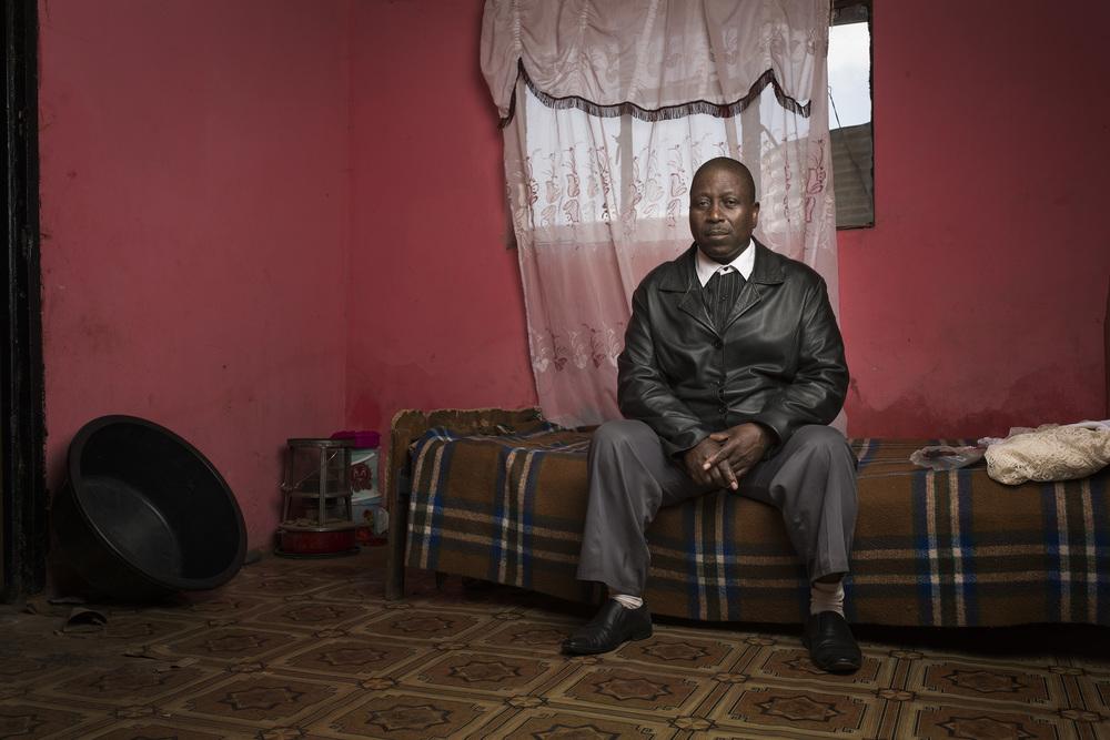 Bongani Nkala at home
