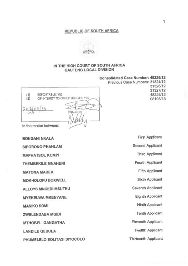 Judgment---Bongani-Nkala-and-Others-v-Harmony-Gold-Mining-Company