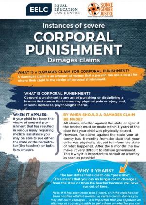 Corporal Punishment Damage Claims