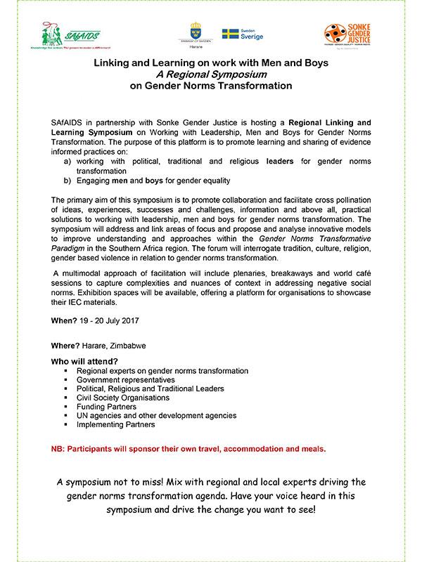 Regional Symposium Announcement