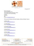 Letter Parliamentary Ethics Committee