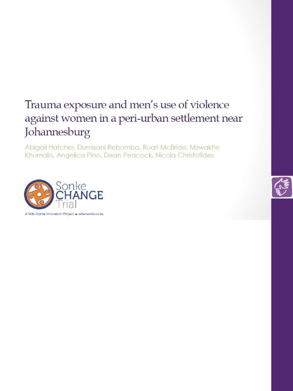 Trauma Exposure Mens Violence