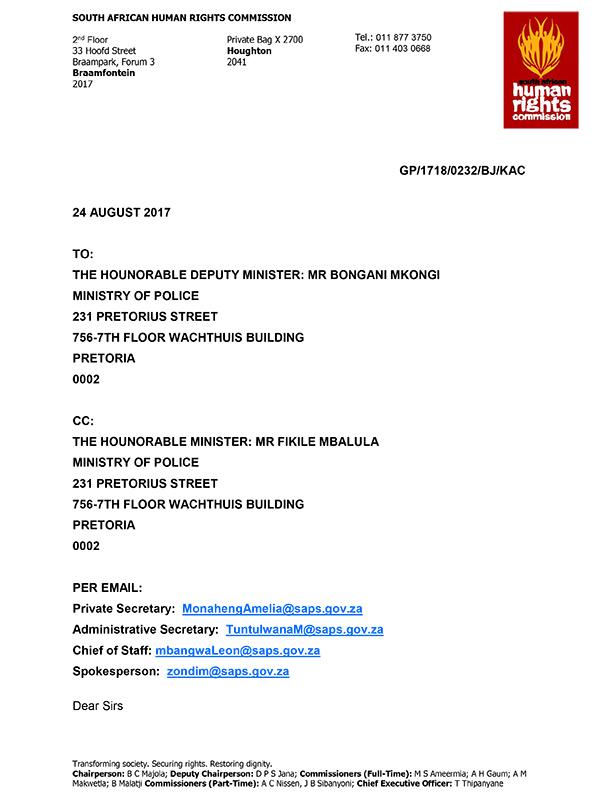 Allegations Letter