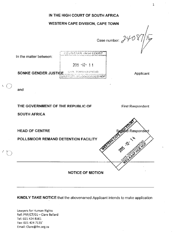 Sonke Founding Affidavit