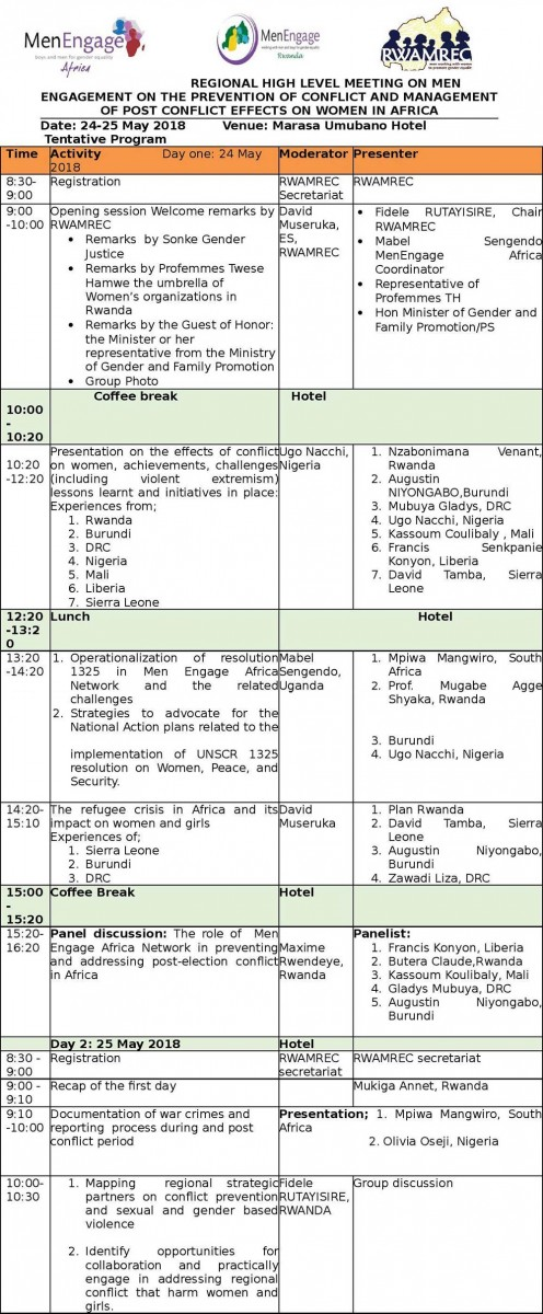 MEA Meeting Agenda