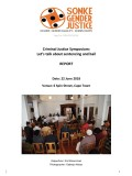 Bail Sentencing Symposium Report