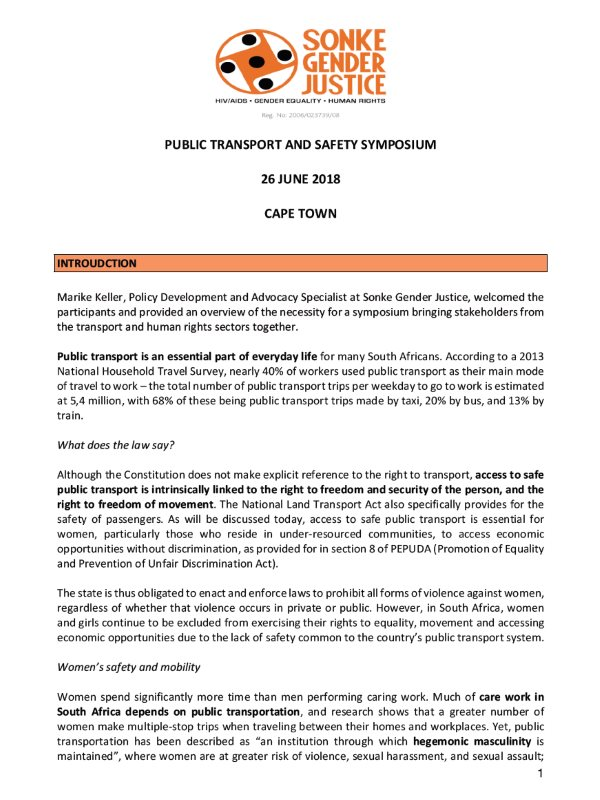 Public Transport Safety Symposium