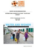 Water Women Workshop Report