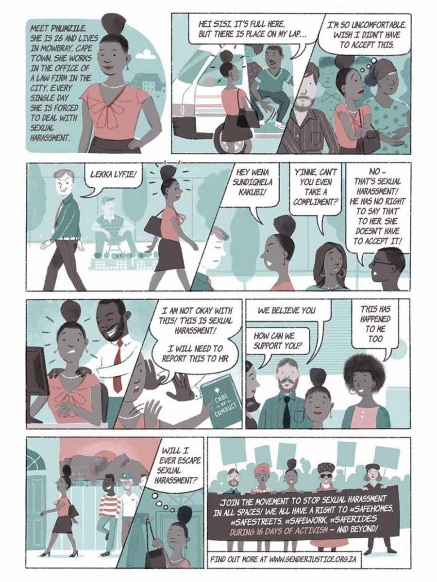 Stop Sexual Harassment Comic