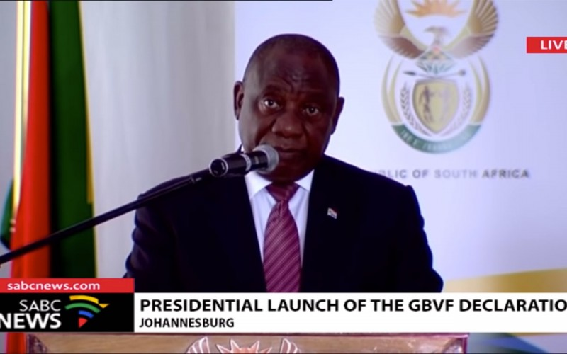 President Ramaphosa Launches GBVF Declaration