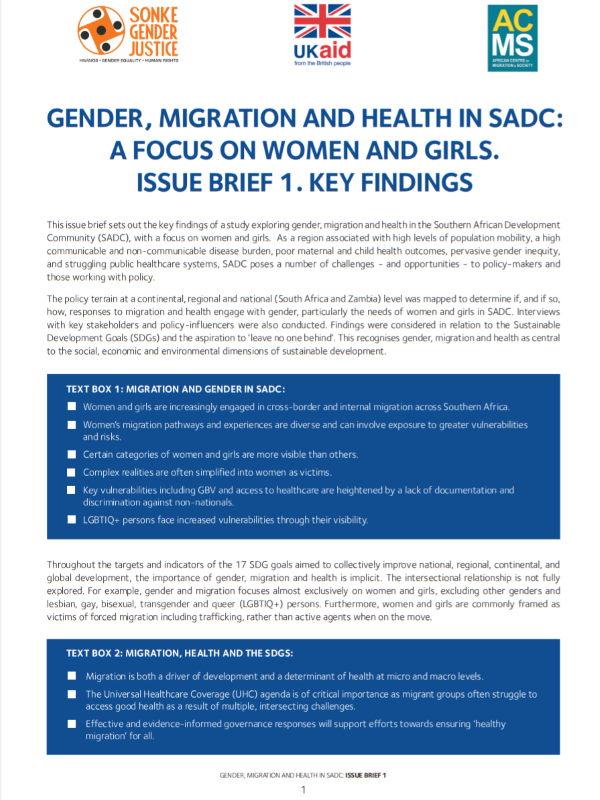 Gender Migration Health SADC 1