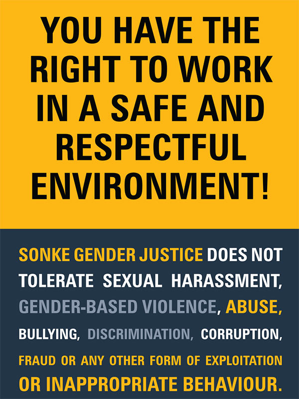 Sonke Zero Tolerance Poster