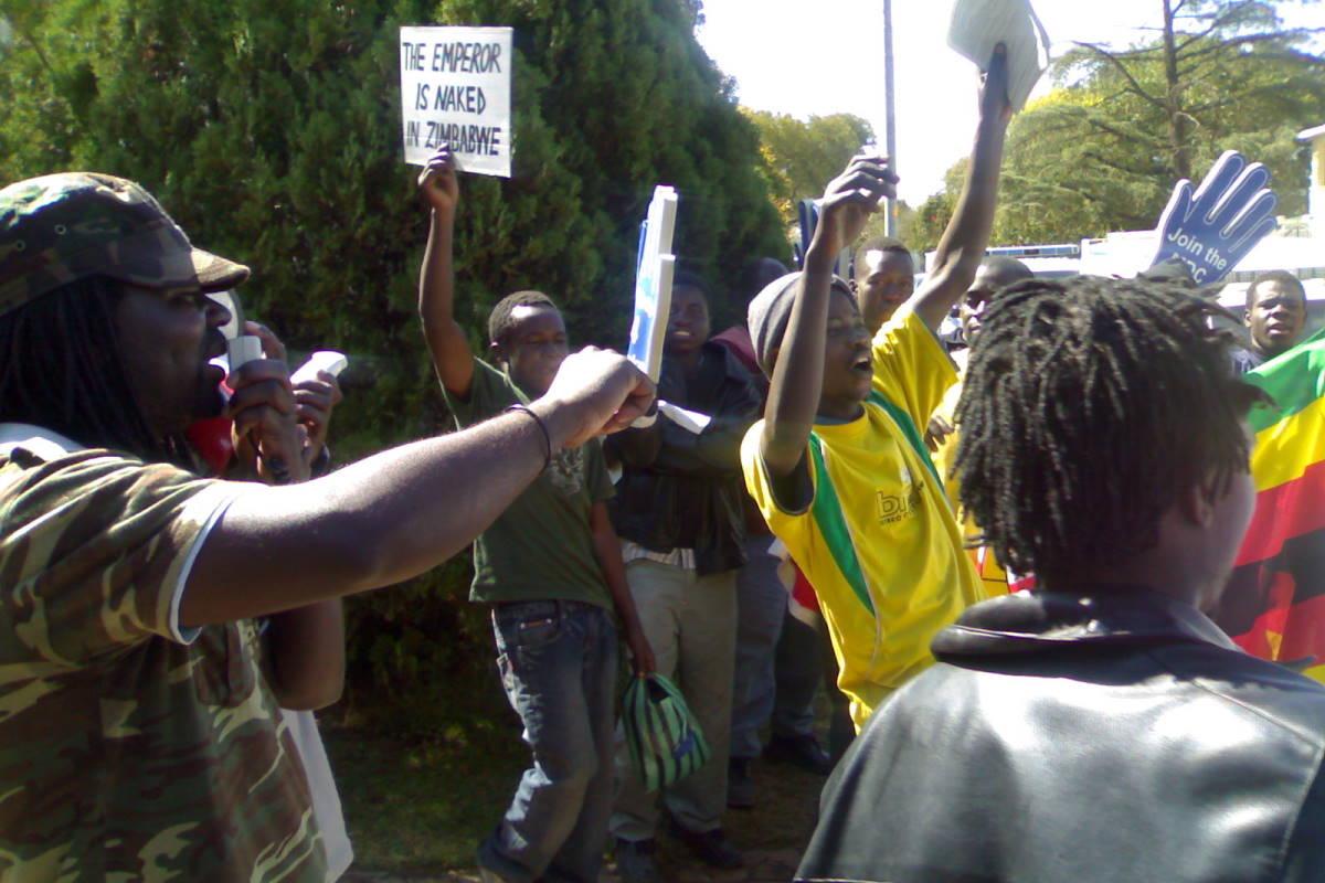 Zimbabwean Protesters